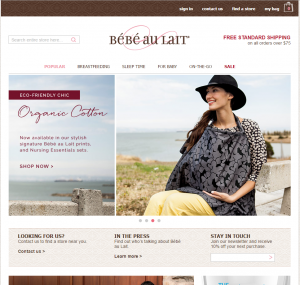 bebe au lait website screenshot